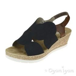 Rieker 6191914 Womens Pazifik Wedge Heel Sandal