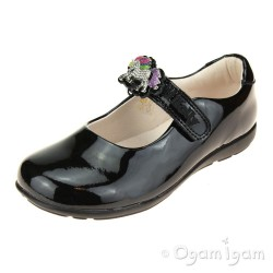Lelli Kelly Blossom Girls Black Patent School Shoe