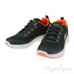 Skechers Dynamic Tread Nitrode Boys Charcoal-Orange Trainer