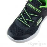 Skechers Dyna Lite Boys Navy-Lime Trainer