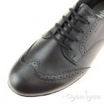 Geox Plie Girls Black Lace-up School Shoe