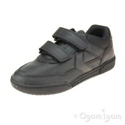 Geox Poseido Boys Black School Shoe