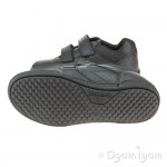 Geox Poseido Boys Black School Shoe