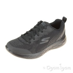 Skechers Go Run 600 Hendox Black School Shoe