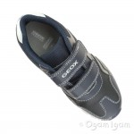 Geox Pavel Boys Navy Silver Trainer