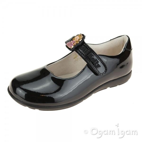 Lelli Kelly Prinny Girls Black Patent School Shoe