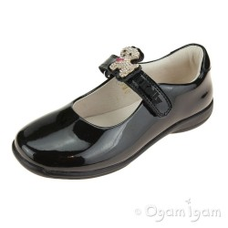 Lelli Kelly Poppy Girls Black Patent School Shoe
