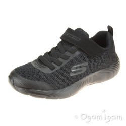 Skechers Dyna-Lite Boys Black School Shoe