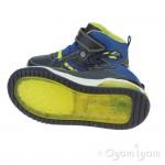 Geox Inek Boys Navy Lime Boot