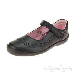 Start-rite Spirit Girls Black School Shoe