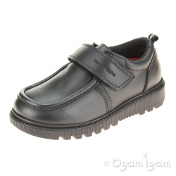 Hush Puppies Ryan Boys Black School Shoe