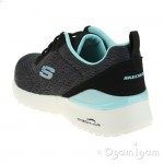 Skechers SkechAir Dynamight TopPrize Womens Black Turquoise Trainer