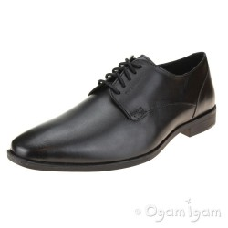 Hush Puppies Ezra Mens Formal or Senior Boys Black School Shoe