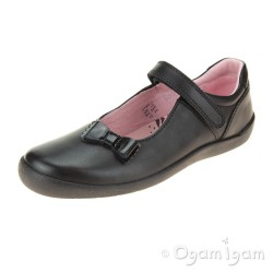 Start-rite Giggle Girls Black School Shoe