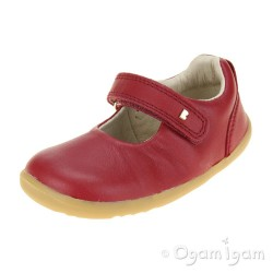 Bobux Delight Girls RIO Red Mary Jane Shoe