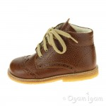 Angulus Wool Lined Lace Up Boot Boys Girls Cognac Brown Boot