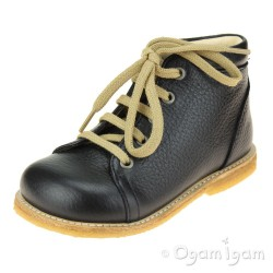 Angulus Lace Up Boots Boys Navy Boot
