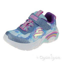 Skechers Rainbow Racer Infant Girls Blue Trainer