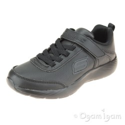 Skechers Dyna-Lite School Sprints Boys Black School Shoe