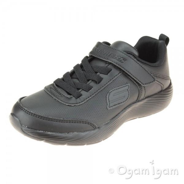 Skechers Dyna-Lite School Sprints Boys Black School Shoe