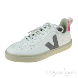 Veja V-10 Lace Girls White Oxford Grey Sari Sneaker Shoe