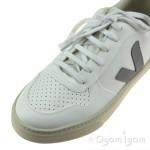 Veja V-10 Lace Girls White Oxford Grey Sari Sneaker Shoe