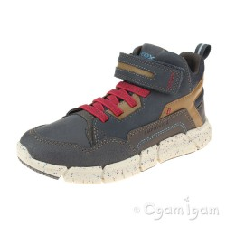 Geox Flexyper Boys Navy-Dark Red Boot