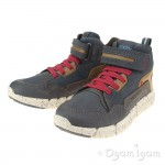 Geox Flexyper Boys Navy-Dark Red Boot
