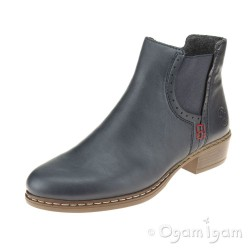 Rieker Y087515 Womens Blue Ankle Boot
