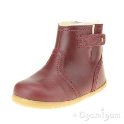 Bobux Tahoe Arctic Infant Girls Warm Lined Sherbert Red Boot