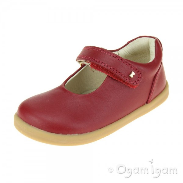 Bobux Delight Red Girls Rio Red Mary Jane Shoe