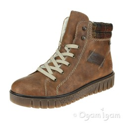 Rieker Y344223 Womens Brown Waterproof Boot
