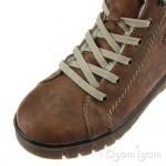 Rieker Y344223 Womens Brown Waterproof Boot