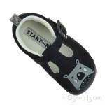 Start-rite Cuddle Infant Boys Navy T-bar Shoe
