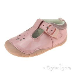 Start-rite Baby Bubble Infant Girls Pink Patent T-bar Shoe