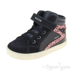 Geox Kilwi Girls Dark Navy Sneaker Hi-top Boot