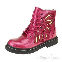 Lelli Kelly Ali Di Fata Stivale Girls Fuxia Glitter Boot