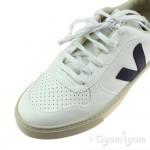 Veja V-10 Lace Boys White Cobalt Pekin Shoe