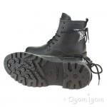 Geox Casey Girls Black Ankle Glitter Boot
