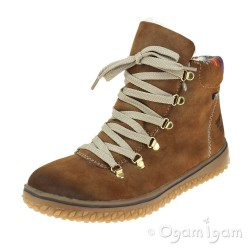 Rieker Z423324 Womens Waterproof Warm-lined Brown Boot