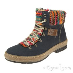 Rieker Z674315 Womens Navy Boot