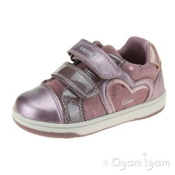 Geox Flick Girls Dark Pink Shoe