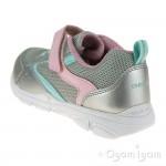 Geox Torque Girls Silver-Pink Trainer