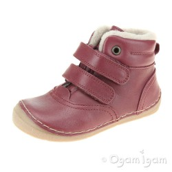 Froddo G2110087 Girls Bordeaux Red Boot