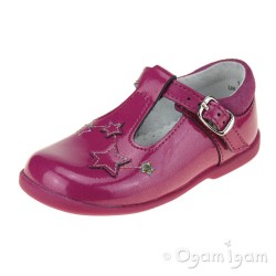 Start-rite Star Gaze Girls Berry Glitter Patent T-bar Shoe