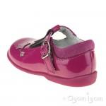 Start-rite Star Gaze Girls Berry Glitter Patent T-bar Shoe