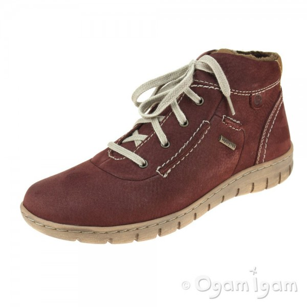 Josef Seibel Steffi 53 Womens Bordeaux Red Warm-lined Waterproof Ankle Boot