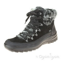Rieker Z713200 Womens Warm-lined Waterproof Black Boot