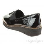 Rieker 5375100 Womens Black Shoe