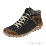 Rieker L752722 Womens Brown Ankle Boot